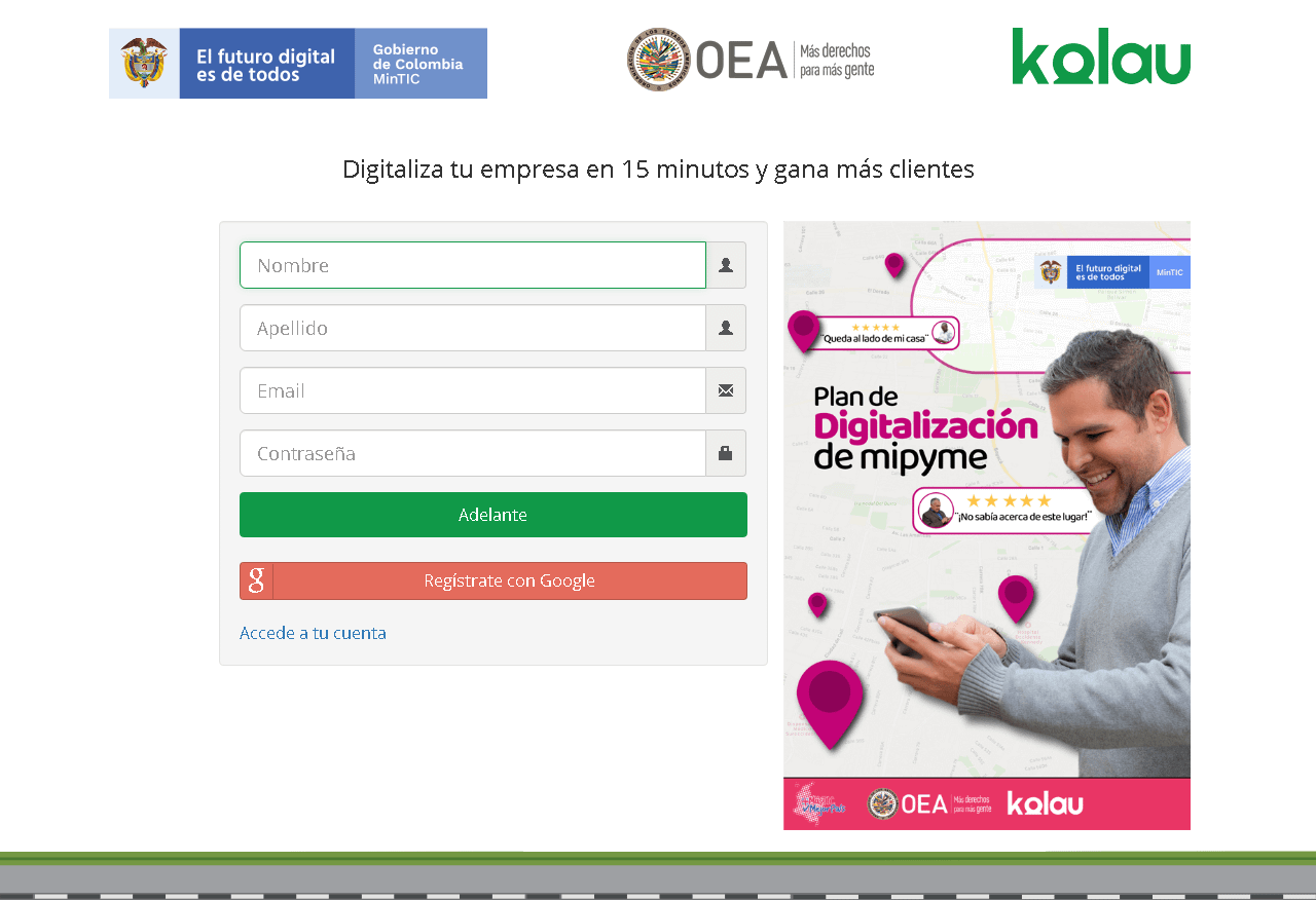 Gobierno colombia páginas web gratis