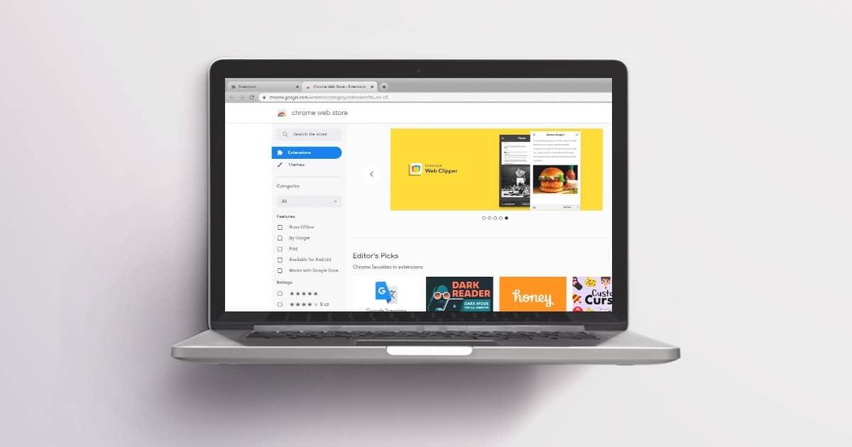 Extensiones google diseñador web